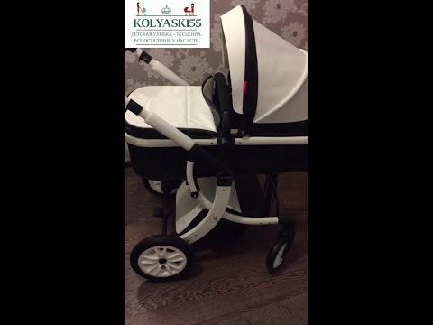 Детская коляска Aimile/Wingoffly Эко Кожа трансформер 2 в 1 0-3+