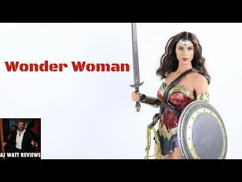 Hot Toys Movie Masterpiece Batman V Superman Gal Gadot Wonder Woman 1/6 Scale Figure Review