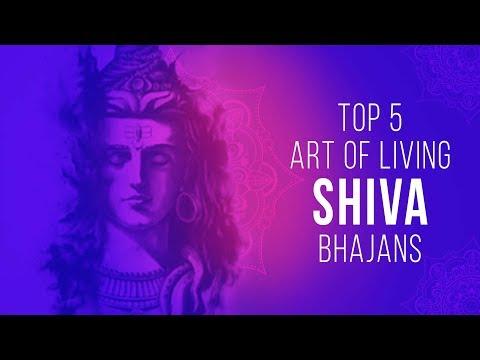 Top 5 Art Of Living Shiva Bhajans  🎵🔱