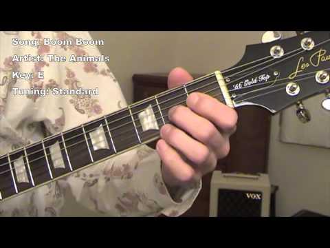 Boom Boom  guitar lesson