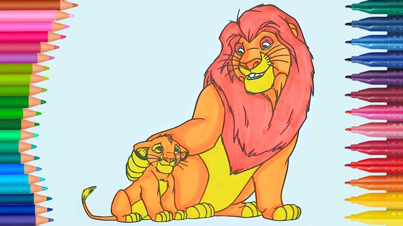 Aslan Kral Boyama Kitabı Boyama Videoları Renkleri öğreniyorum