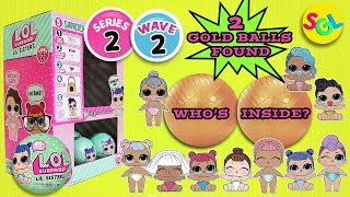 LOL Surprise Dolls Series 2 Wave 2 Gold Balls Found Ultra Rare Lil Sis | LIL Outrageous Littles SGL
