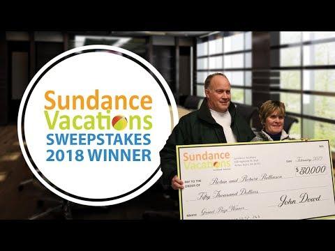 Sundance Vacations 2018 Sweepstakes Winners!