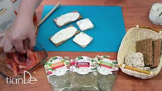 Рецепт бутербродов с заправкой на основе белкового микса ванильного Active Life TianDe