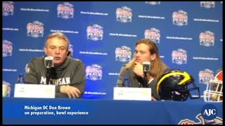 Michigan defense ahead of Chick-fil-A Peach Bowl