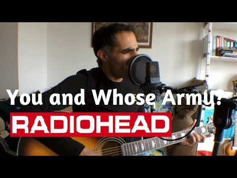 ♫ You and Whose Army Radiohead (Acoustic Cover) ♫ - learn guitar chords mp3