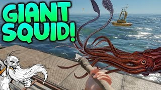 "Stranded Deep Gameplay - ""GIANT SQUID ATTACK!!!""  - Let"