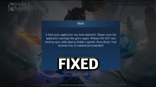 How to Fix A Third Party Application has been detected | Mobile Legends screenshot 4