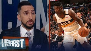 Zion's 32-point game vs OKC Thunder doesn't surprise Nick Wright | NBA | FIRST THINGS FIRST