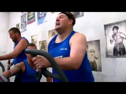 EXCLUSIVECameron falls of cross trainer on Oz Biggest Loser