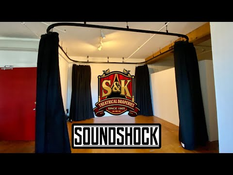 S&K - Home Studio Curtains (360 degrees SoundShock Installation & Testimonial) Sound Dampening.