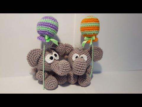Elefante Uncinetto Amigurumi Tutorial Elephant Crochet Elefante