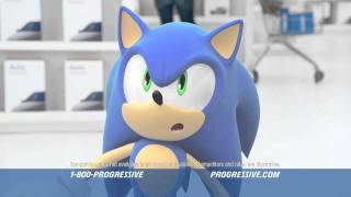 Progressive Ad Featuring Sonic the Hedgehog thumbnail