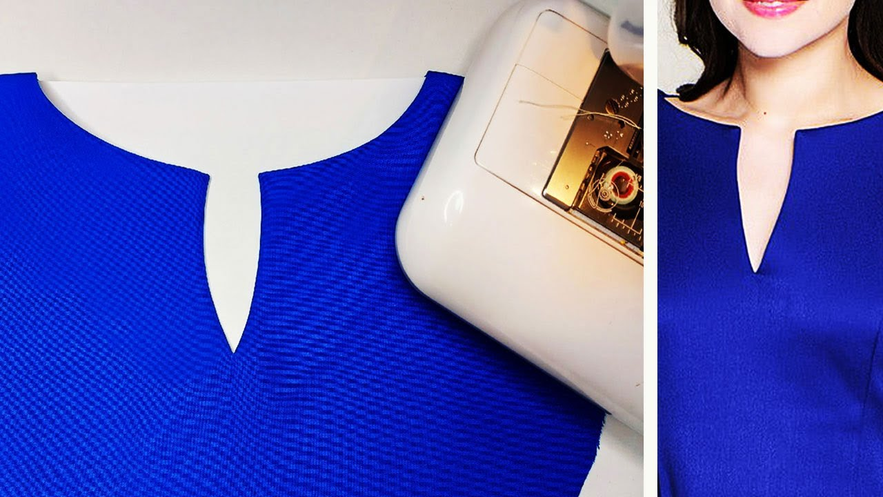 How to cut and sew a beautiful and fancy neckline