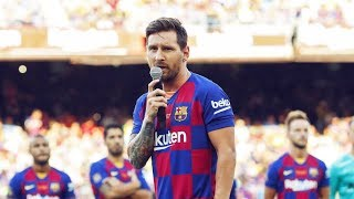 Messi gave a true captains speech at Camp Nou - Oh My Goal