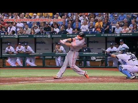 Chris Davis Slow Motion Home Run Baseball Swing - Hitting Mechanics Baltimore Orioles MLB