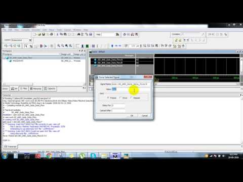 And Gate verilog coding using data flow modeling||ieee vlsi projects at bangalore