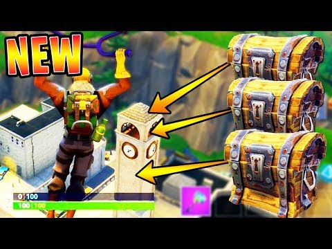 "Tilted Towers ""SECRET CHEST LOCATIONS"" in FORTNITE!! (NEW CITY CHEST SPOTS)"