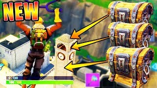 "Tilted Towers ""SECRET CHEST LOCATIONS"" in FORTNITE!! (NEW CITY CHEST SPOTS) 