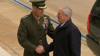 Raw: Defense Secretary Mattis Arrives at Pentagon