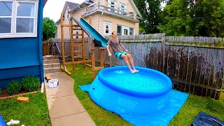 Swimming Pool With Water Slide, Are There Slides For Above Ground Pools