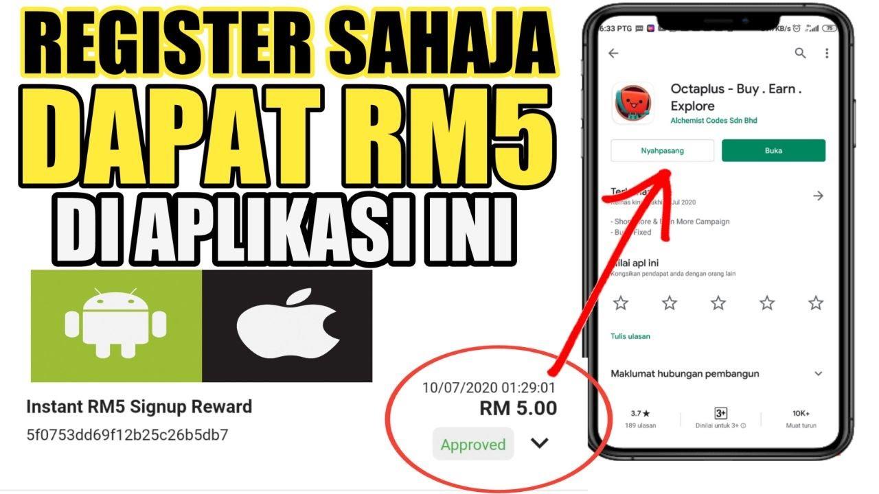 Register Jer, Dapat RM5 Percuma / Cara Buat Duit Dengan Iphone Dan Android