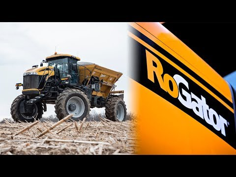 First Farm To Broadcast Fertilizer - RoGator 1300