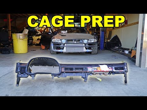 ROLL CAGE PREP! Dash Removal + Dry Ice