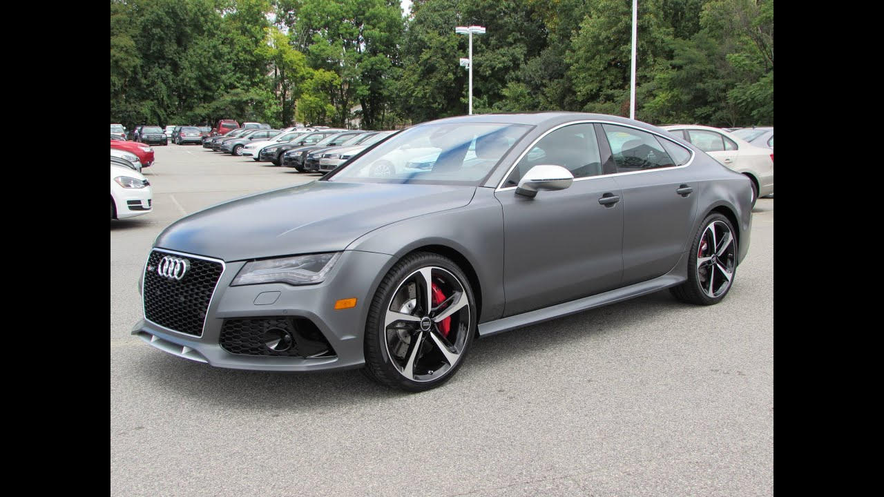 2015 Audi RS 7 Sportback Start Up, Test Drive, and In Depth Review ...