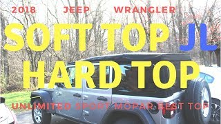 Jeep Wrangler 2018 JL soft top- hard top frame install - remove high detail Unlimited by SVTWRC