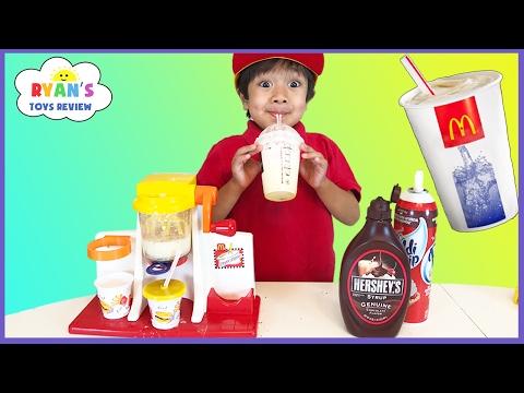 McDonald's Shake Maker & McDonald's Cash Register! Kids Pretend Play Food Happy Meal Surprise Toys