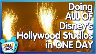 Every Attraction in Hollywood Studios in ONE DAY!