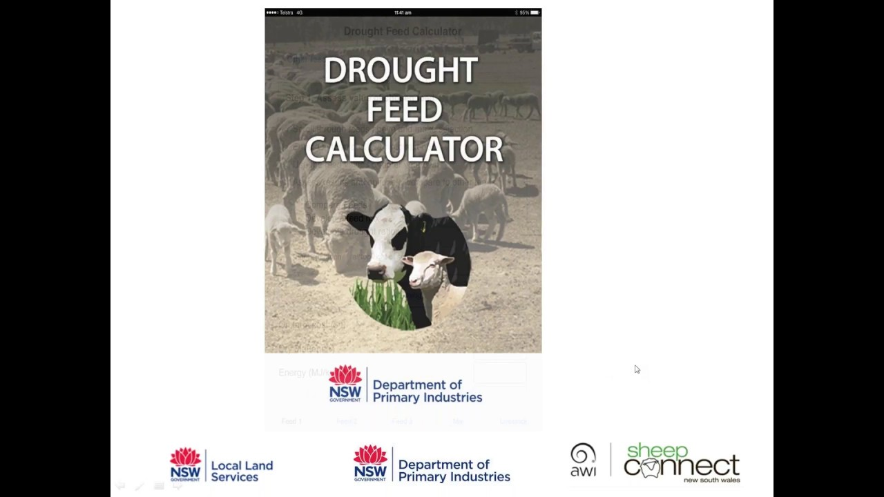 Drought feed calculator app