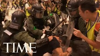 Tensions Mount In Hong Kong As Protesters Call For Chief Executive Carrie Lam's Resignation   TIME