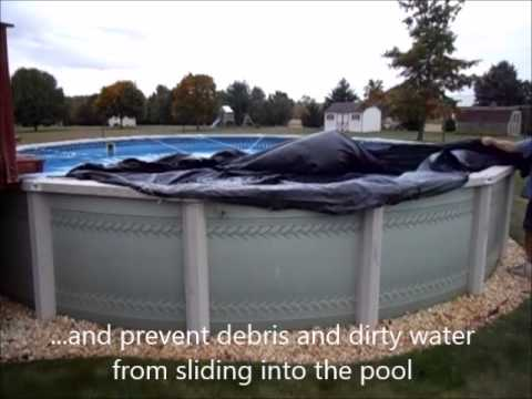 Secure Fit Pool Cover Kit Cover Removal Youtube