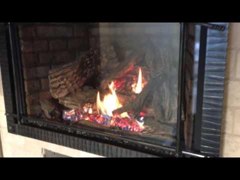 XIR4 XIR3 Gas Fireplace Insert Napoleon Burn Video Clean Face
