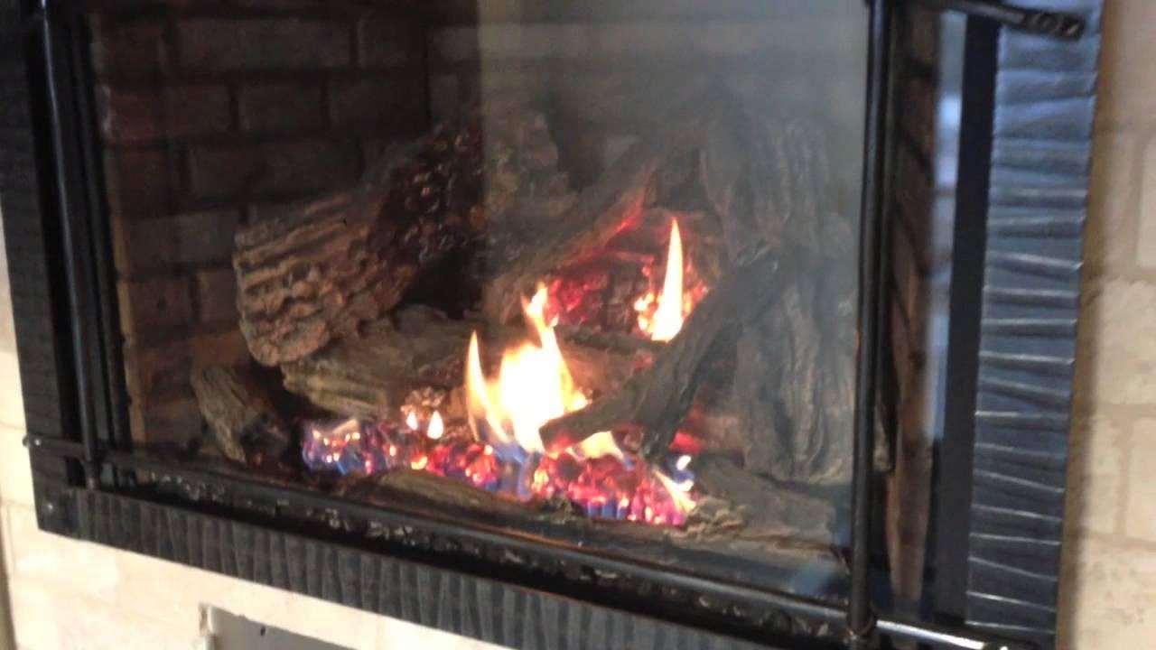 XIR4 XIR3 Gas Fireplace Insert Napoleon Burn Video Clean Face  YouTube