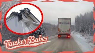 Annette bleibt bei der Tunnelwand hängen: Wie groß ist der Schaden? | Trucker Babes | kabel eins