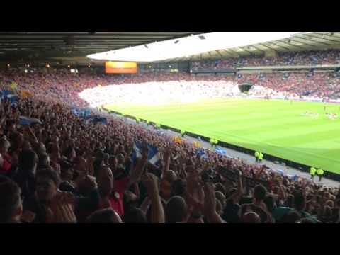 Scotland fans at Hampden v England