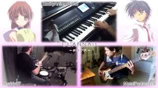 Clannad Roaring Tides【Shionari (潮鳴り)】(feat. Auddy07Drums & ZackyAnimePiano) [Band Cover]