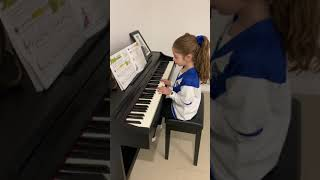 Mia Plays 'Girls & Boys Come Out To Play' on Piano