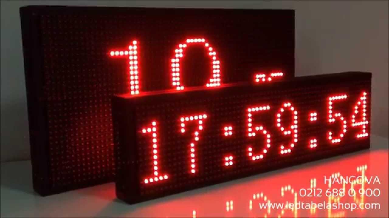 Saat - Tarih - Sıcaklık Göstergisi Led Tabela | Zaman Ayarlı | Türkçe Program