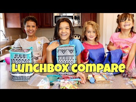 WHAT'S IN OUR LUNCHBOX? High School vs Jr. High vs Elementary Lunches
