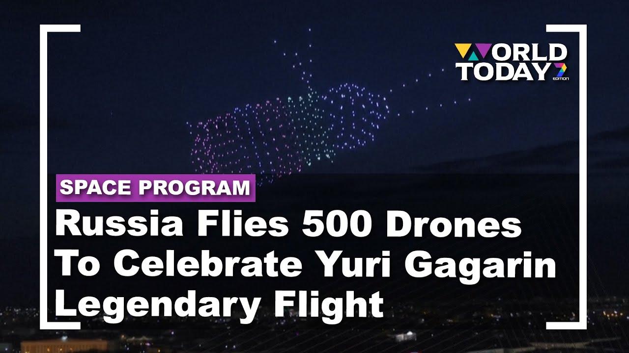Russia Flies 500 Drones To Celebrate Yuri Gagarin Legendary Flight | World Today