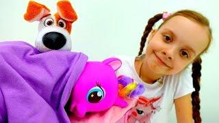 Тайная жизнь животных и Литл пони - Видео с игрушками