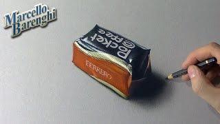 Drawing time lapse: Pocket Coffee praline - hyperrealistic art