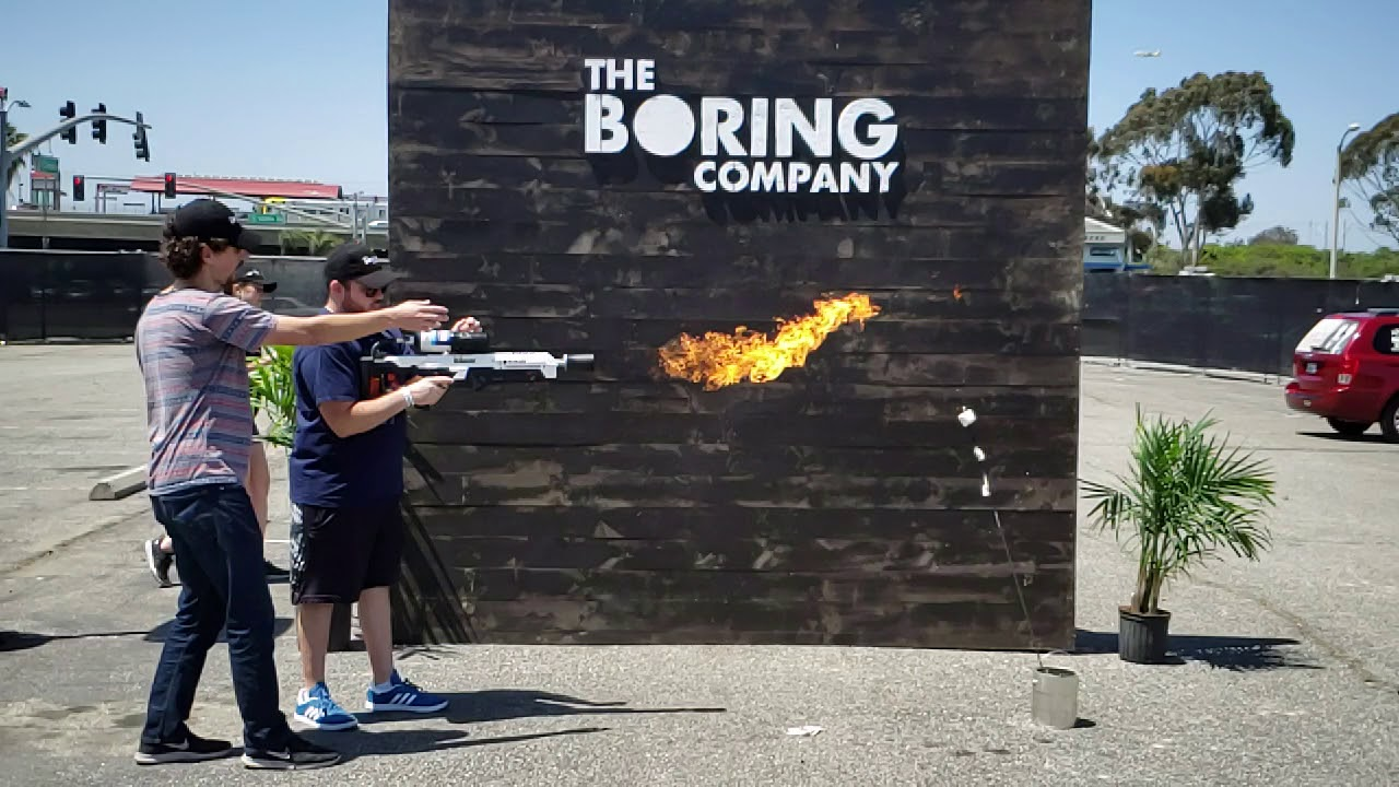boring company not a flamethrower pickup party youtube. Black Bedroom Furniture Sets. Home Design Ideas