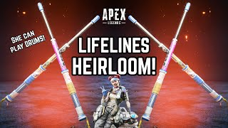 NEW LIFELINE HEIRLOOM 'Get Wrecked' GAMEPLAY! Unlocking Fight or Fright Collection! Apex Legends