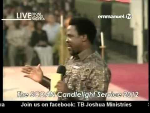 TB Joshua. Prophecy & Distributing The New Anointing Sticker