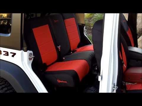Trek Armor Seat Cover Installs On 2013 Jeep Wrangler -UPDATED!